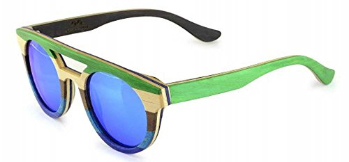 Specs of Wood Eyewear Sunny Skies Blue,Brown,Green Polarized Blue - Le Specs Sunnies