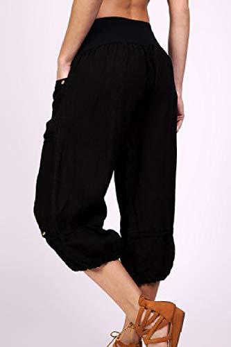Zilcremo Large Plus Avec Noir Femmes Poches Des Points Taille De Pantalon 7 xrEfaqxTw