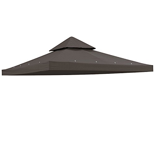 CHIMAERA 12x12 Ft Patio Canopy Gazebo Replacement Top Coffee Liqueur