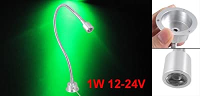 12-24V 1W Adjustable Goose Neck LED Spotlight Desk Lamp Green Light