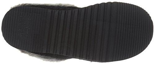 Cable Women's on Dearfoams Slipper Clog Knit Slip Black RPXvwq