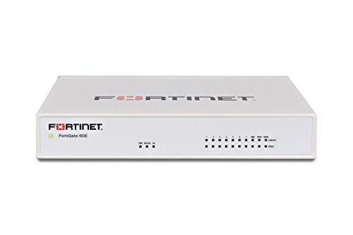 Fortinet FortiGate-60E / FG-60E Next Generation (NGFW) Firewall Appliance, 10 x GE RJ45 Ports