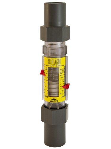 (Hedland H628-010 EZ-View Flowmeter, Polysulfone, For Use With Water, 1.0 - 10 gpm Flow Range, 1