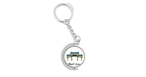 Amazon.com: Llavero giratorio con arco tradicional en Corea ...