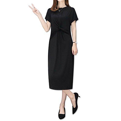 GZZ Jupe en Mousseline de Soie des Femmes/Summer Beach Dress/Modal Dress/Vintage Jupe Noir