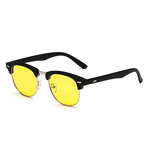 Blue Light Blocking Computer Glasses for Anti Eyestrain Anti Glare Lens Lightweight Frame Eyeglasses for Men Women Sunglasses LPLTCD (Color : 03Yellow, Size : Free)