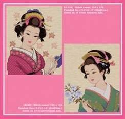Japanese Beauty, Cross Stitch from Pinn Stitch