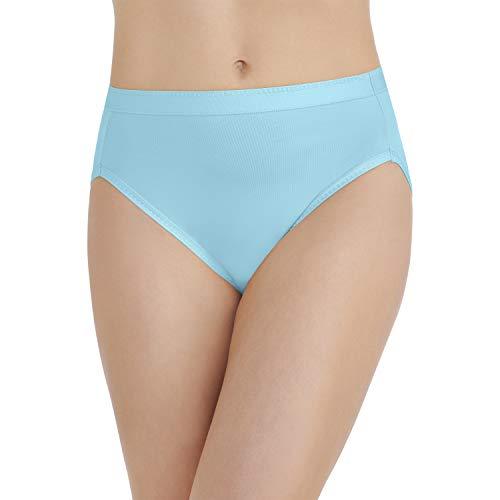 (Vanity Fair Women's Comfort Where It Counts Hi Cut Panty 13164, Blue Topaz, Large/7)