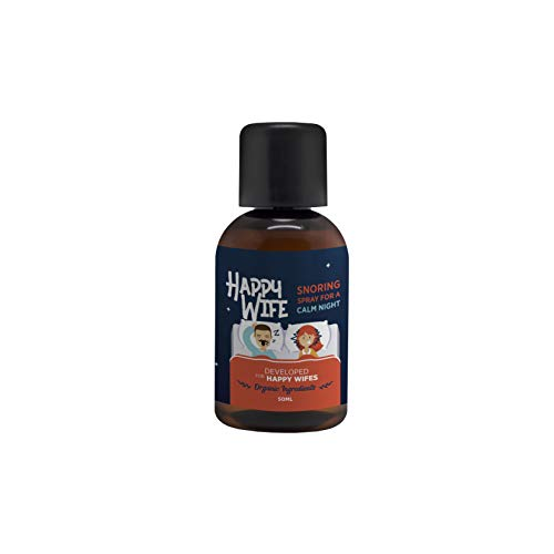 Anti Snore Oil by Happy Wife 50 ml I Snoring aids I Anti Snoring Devices I Natural Remedy for snoring with Peppermint Oil I Alternative to Ear Plugs