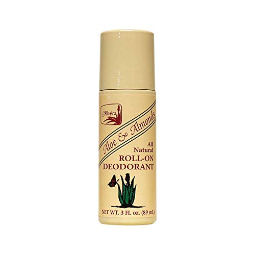 All Natural Roll-On Deodorant Aloe & Almonds 3 fl Ounce (89 ml) Liquid