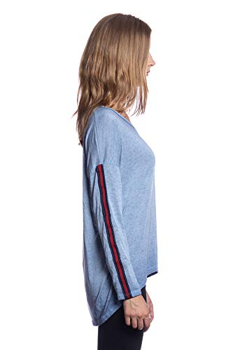 1502 Shirt Plusieurs IG020 Tendresse Art Jeans Italie Femme Bleu Top Transition Fashion Couleurs Flexible Abbino Vente L'automne Collection Plaine Confortable lgant Sexy Branch en Hiver Fabriqu Doux 5F0qwxn