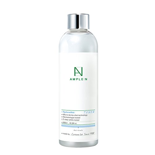 [AMPLE:N] Hyaluron Shot Toner 20.28 fl. oz. (600ml) - Hyaluronic Acid & Xylitol Complex Contained, Hydrating Esssence Facial Toner for Sensitive and Dry Skin