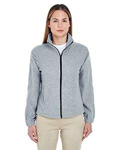 UltraClub Men's Iceberg Fleece Full-Zip Jacket (Grey Heather) (Small)