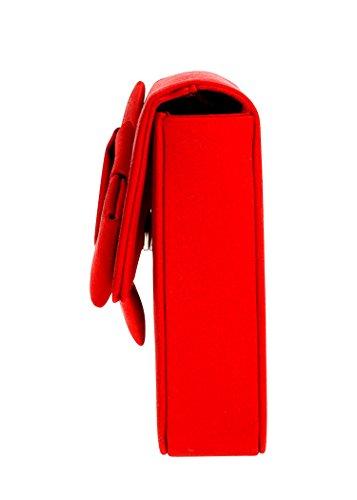 PRADA Pochette in raso di seta tracolla regolabile e removibile