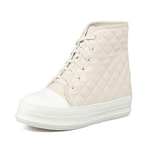 Botas Plano Zapatillas 39 Plataforma Mujer Algodón Wsr Además Terciopelo Zapatos Para Abrigados Gruesa Fondo Con beige De Estudiantes d78qCw