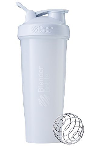 BlenderBottle Classic Loop Top Shaker Bottle, White/White, 32-Ounce