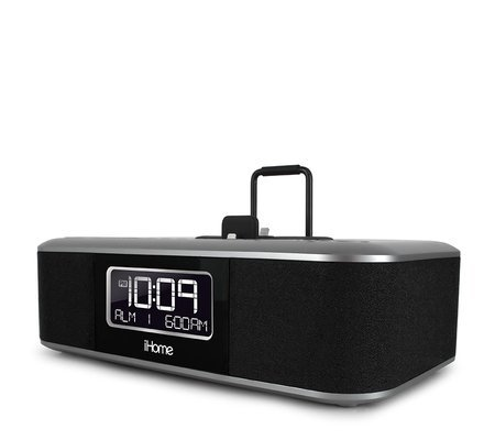 iHome iDL45BC Dual Charging Stereo FM Clock Radio with Lightning Dock and USB Charge/Play - Black