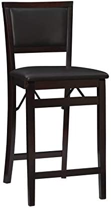 Linon Home Decor Keira Pad Back Folding Counter Stool 24 Inch Sports Outdoors