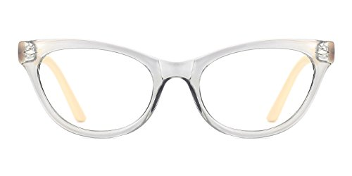 TIJN Super Inspired Mod Fashion Cat Eye Glasses Translucent Eyewear - Eye Cat Eyeglasses Designer