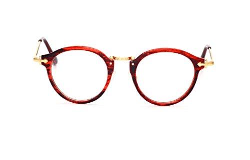 Caixia Women's SJT-6008 Plastic Ornate Engraved Detail Round 50mm Eyeglasses (red - Red Eyeglasses Plastic