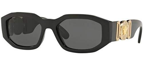 (Versace Sunglasses Black/Grey Nylon - Non-Polarized - 53mm)