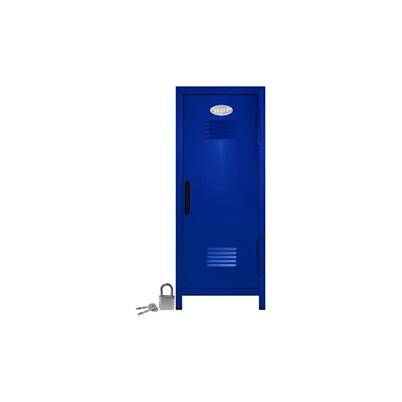 Mini Locker with Lock and Key Blue -10.7