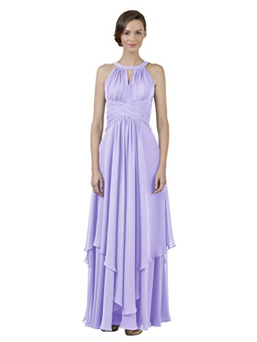 Jewel Party Prom Dress Lilac A Dress Line Chiffon Evening Bridesmaid Gown Alicepub Long 4dgq46
