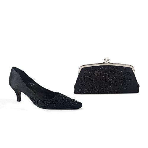 Matching Court 37 Bag EU 4UK Black FARFALLA Shoes amp; THd5wwq