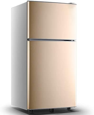 W-XS ミニ冷蔵庫クーラー、車に適し消費し、より少ないエネルギーを冷却凍結保存/ミュート省エネ、クイック、寮、ホーム (Color : Gold)