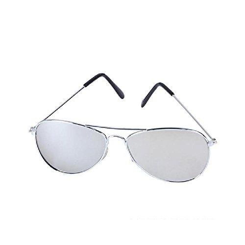 Aviator Mirror Lens Sunglasses by Bargain World
