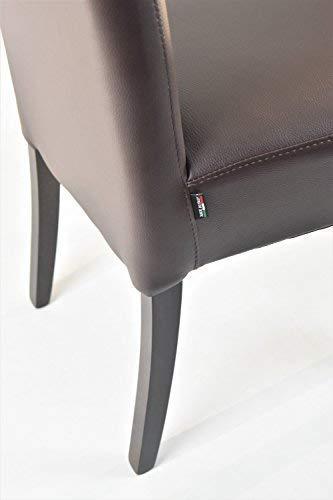 Tommychairs sillas de Elegancia y Design - Set de 4 Sillas Luisa para Cocina, Comedor, Bar y Restaurante con Estructura en Madera de Haya y Asiento tapizado ...