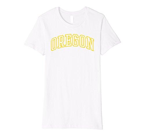 Womens Oregon Ducks OU NCAA T-Shirt orgn2002 Small White