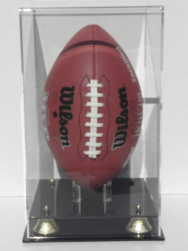 Plastics Unlimited Football Display Case Vertical with Gold Risers NFL NCAA Collectible Memorabilia ()