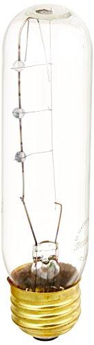 Bulbrite 60T10C/HO 60-Watt Incandescent T10 Tubular High Output Light, Clear