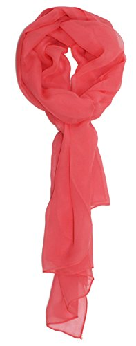 (Ted and Jack - Solid Silk Lightweight Accent Scarf (Salmon))
