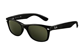 classic ray ban wayfarer  Amazon.com: Ray-Ban RB2132 NEW WAYFARER Black Crystal Green ...