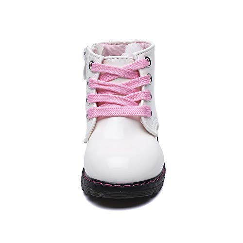 Classic Waterproof Shoes for Girl Toddler Zip White Walking Boots,Toddler 5.5M by Cixi Maxu E-Commerce.Co.Ltd (Image #3)