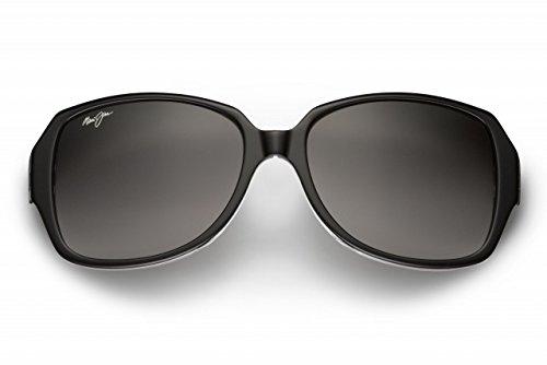 Maui Jim Womens Kalena 57 Sunglasses (299) Black Shiny/Grey Acetate - Polarized - 57mm