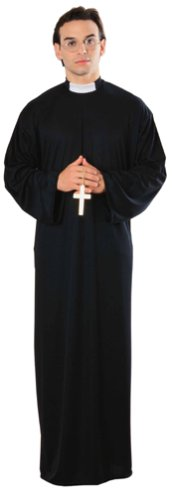 [Rubie's Costume Priest Costume (Adult), Black, Standard One Size] (Black Men Halloween Costumes)