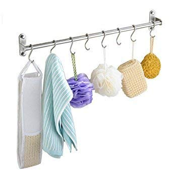UniTendo Multifunction Towel Rack Hanger Hanging Rack Pan Pot Rack Kitchen Utensils Organizer Racks for Kitchen and Bathroom Accessories in 31'' Stainless Steel with 15 Hooks. by UniTendo