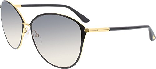 Tom Ford Tf 320 Penelope Black/Gold Frame/Gray Gradient Lens 59Mm (Tom Ford Penelope)