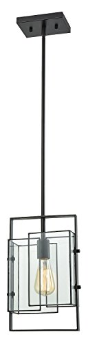 Stratus 1 Light Pendant in Oil Rubbed Bronze with Clear Glass