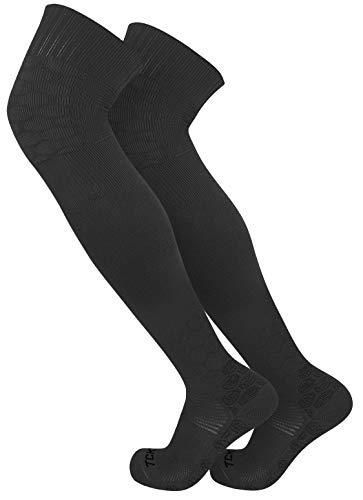 TCK Over the Knee Sports Performance Socks (Black, X-Large)