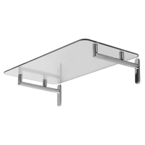 Ginger 0240-20 20'' Tempered Glass Hotel Shelf from the Sine Collection, Satin Nickel