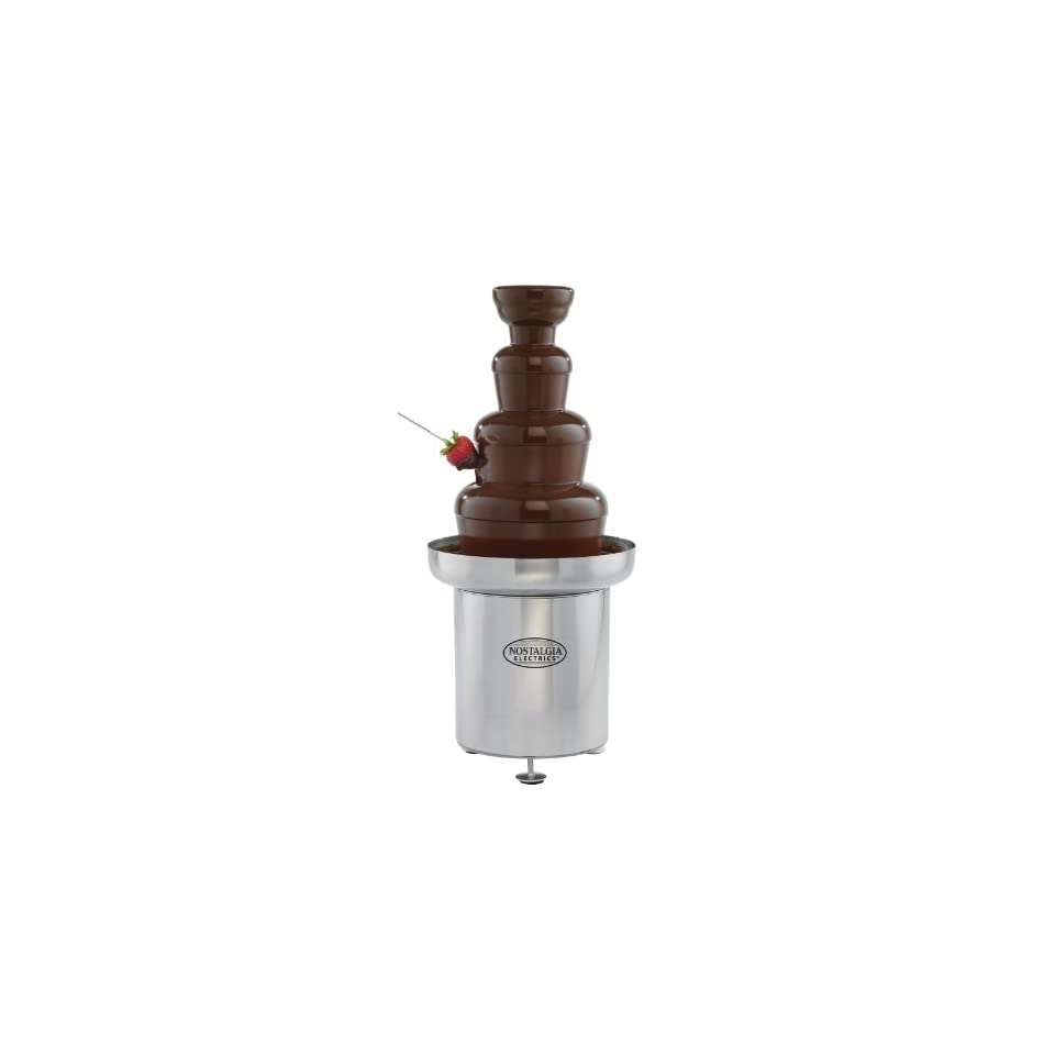 Nostalgia CFF552 4 Tier 6 Pound Capacity Stainless Steel Commercial Chocolate Fondue Fountain