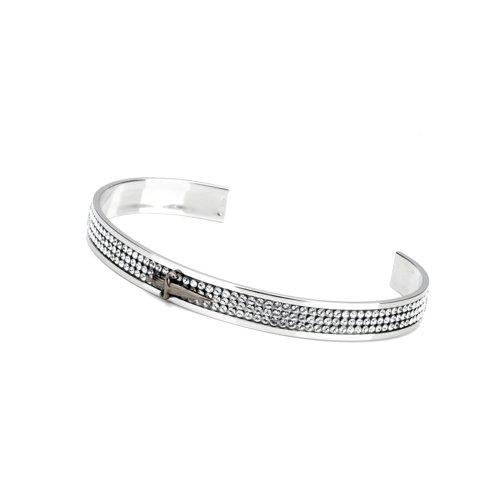 Paciotti Bracelet Jonc Femme-Argent-Oxyde de Zirconium-JPBR0721BU