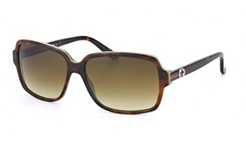Gucci Sunglasses - 3583 / Frame: Havana Green Lens: Brown Gray Gradient