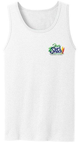Joe's Surf Shack Original Logo Tank Top-White/c-XL - White Logo Tank