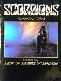 Scorpions: Greatest Hits - Songbook Sheet Music Book