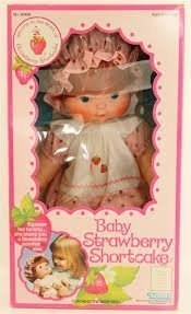 Baby Strawberry Shortcake Blow Kiss Doll Vintage 1982 New ()